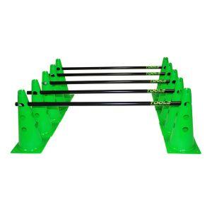 Kit 10x Cônes Multiusage 38 cm + 5x Barres 1 mètre - 2 Couleurs à Choix : Vert ou Rouge