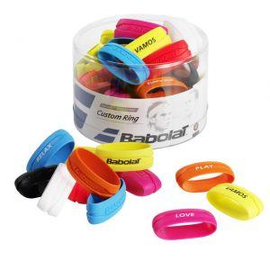 Boîte de 60 Custom Ring Box  Babolat / Bague pour finir un Surgrip ou Grip sur le manche