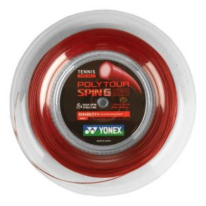 Cordage Yonex Poly Tour Spin G Rouge 1,25 mm - 200 m