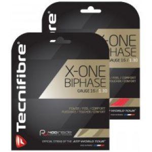 Cordage Tecnifibre X-one Biphase - Dynamique / Confort / Durabilité - 12m