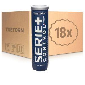 Balles Tretorn Serie+ Control 18 tubes de 4 balles Officielles Swiss tennis Compétitions