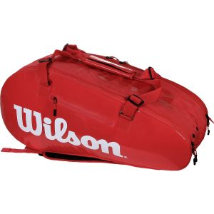 Sac Wilson Super Tour 9 Raquettes Comp Infrared-(Rouge vif)