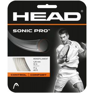 Cordage Head Sonic Pro (Contrôle) Blanc 1,25 ou 1,30 - 12m - 1 raquette