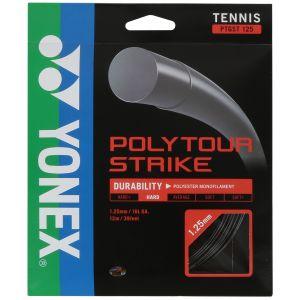 Cordage Yonex PolyTour Strike 1,25 mm - Noir 12m - 1 raquette