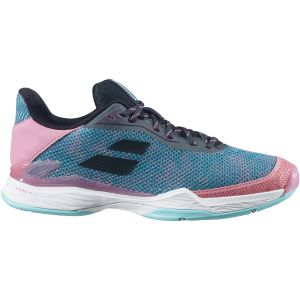 Chaussures Dame Babolat Jet Tere 2020 - Bleu/Rose - Terre Battue