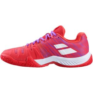 Chaussures Dame Babolat Moeva 2021 - Padel / Terre Battue - Corail