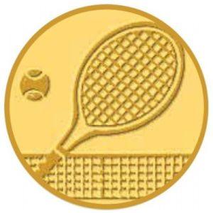 Pastille Tennis Aluminium à Incorporer dans les Médailles - Gold