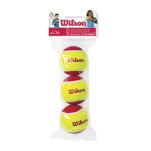Sachet de 3 Balles Wilson Starter Red