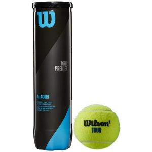 Tube de 4 Balles Wilson Tour Premier - All Court