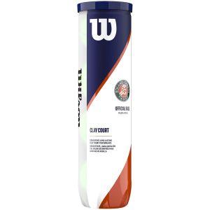 Tube de 4 Balles Wilson Sponsor Officiel Roland Garros Terre Battue