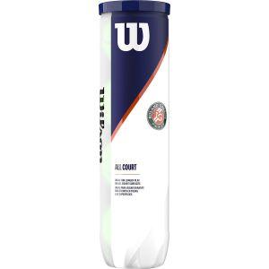 Tube de 4 Balles Wilson Sponsor Officiel Roland Garros Toutes Surfaces