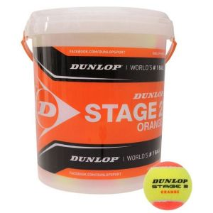 Balles Dunlop Orange Programme Kids Swiss Tennis Baril de 60