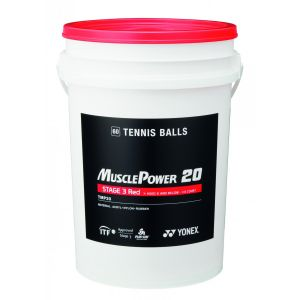 Baril de 60 balles Yonex - Stan Wawrinka - TMP 20 - Stage 3 Rouge - Kids Tennis