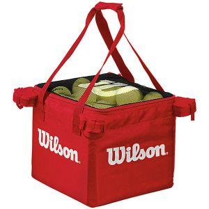Panier à balles Wilson - 150 balles - 3 Couleurs Orange - Rouge - Vert