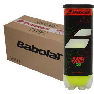 Balles de Padel Babolat Pro Tour - Tube x3 balles - Carton de 18 tubes ou 24 tubes