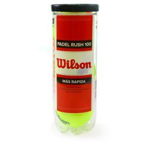Balles Wilson Rush 100 Padel Tube x3