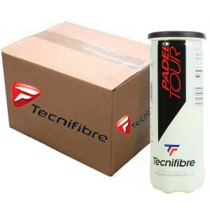 Carton 24x Tubes Balles Tecnifibre Officielles Competitions World Padel Tour Tube x3