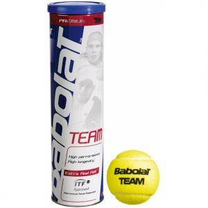 Balles Babolat Team tube x4 Officielles IFT et SwissTennis compétitions