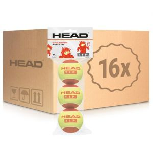 Carton 16 sacs de 3 Balles Head Rouge Kids Tennis