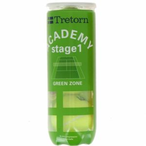 Balles Tretorn Green Stage 1 Officielles Swiss Tennis Compétitions juniors Tube de 3