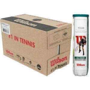 Balles Wilson Tour All Court Carton de 18 Tubes de 4 Balles