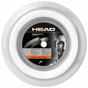 Bobine Hybride Head Gravity (TopSpin) 2 Cordages 1,25 mm + 1,20 mm - Blanc + Anthracite 200m