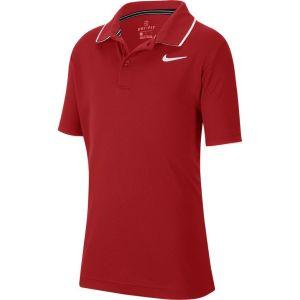 Polo Garçon Nike Dry Team Rouge