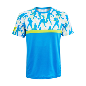T-Shirt Technique Homme Babolat Compete 2020 -Bleu/Lime