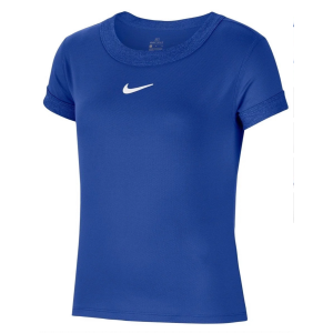 T-Shirt Fille Dri-Fit Compete Bleu