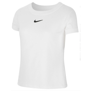 T-Shirt Fille Dri-Fit Compete Blanc