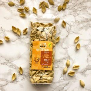 Conchiglie Riches en Protéines 240g - Farine Suisse– Vegan - 100% Naturelle - Elaboré en Suisse