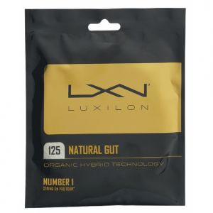 Luxilon Natural ATP 1.25 et 1.30 Boyau Naturel - Ecru - 1 raquette