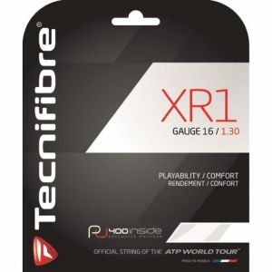 Cordage Tecnifibre XR1 - 1,35mm Blanc - Puissance et Contrôle 12m