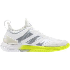 Chaussures Dame Adidas Adizero Ubersonic 4 - Blanc/Lime - Toutes surfaces