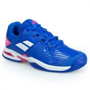 Offre spéciale - Chaussures Junior Babolat Propulse Toutes surfaces - Bleu/Rose Taille 37