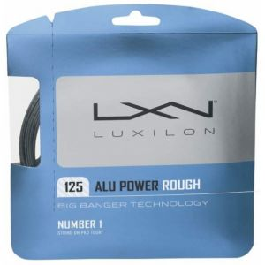 Luxilon Alu Power Rough 1.25 ou 1,30 Argent - R. Federer / S. Halep