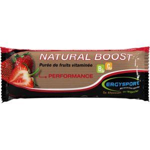 Barre Natural Boost Ergysport - 30 gr - Purée de Fraises Vitaminée
