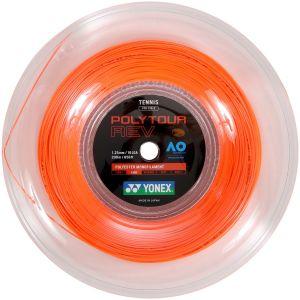 Cordage Yonex PolyTour Orange 200m - 16 raquettes env. (Contrôle et Prise d'Effets)