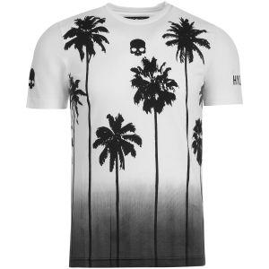T-Shirt Technique Homme Hydrogen Tech Palms - Blanc