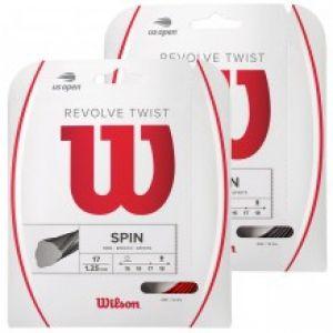 Cordage Wilson Revolve Twist 2 - 1,25 ou 1,30 - Couleurs : Argent ou Rouge