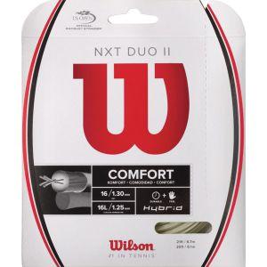 Cordage Hybrid Wilson NXT Duo II Adrenaline 1,25 mm + NXT 1,30 mm