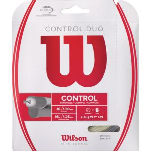 Cordage Wilson Control Duo (Hybride) - Cordages NXT Power 1,30 et Luxilon Alu Power 1.25