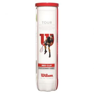 Tube de 4 Balles Wilson Tour Clay / Terre battue
