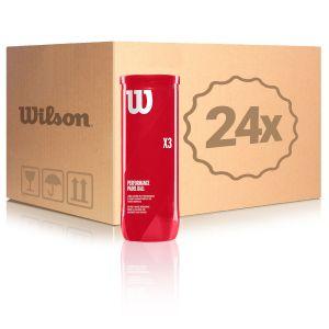 Balles Wilson Performance Padel Tube x3 - Carton de 24 tubes