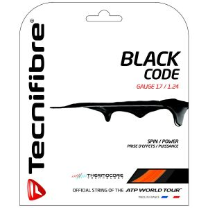 Cordage Tecnifibre Black Code - Prise d'effets - Confort - 12m Vert ou Orange