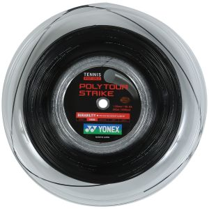 Cordage Yonex Poly Tour Strike 1.25 Noir 200m - 16 raquettes env. (Puissance - Contrôle et Durabilité)
