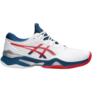 Chaussures Homme Asics Solution Speed FF Blanc/Rouge - Toutes surfaces glissantes (Clay)