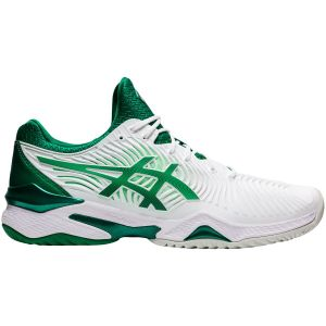 Chaussures Homme Asics Court FF Djokovic Blanc/Vert - Toutes surfaces