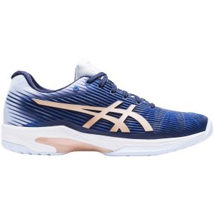 Chaussures Dame Asics Solution Speed FF Bleu marine - Terre Battue - 1x 39.5 en Stock