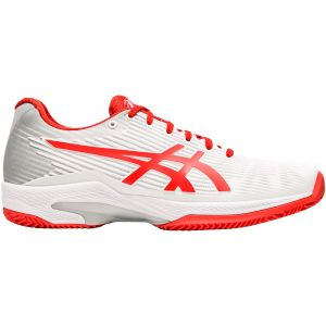 Chaussures Dame Asics Solution Speed FF -  Blanc/Corail - Terre Battue
